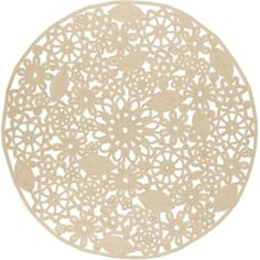 Surya SNB4020-8RD Sanibel 8' Round Synthetic Hand Woven Paisley Outdoor Area Rug - Beige