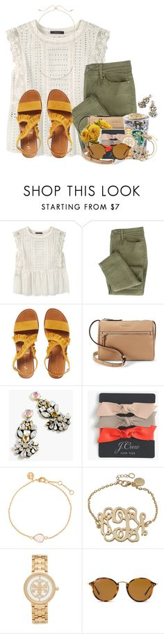 """Guys my heart is so happy 💗❤️RTD"" by flroasburn ❤ liked on Polyvore featuring Violeta by Mango, Kate Spade, J.Crew, Accessorize, Tory Burch, Ray-Ban and Kendra Scott"