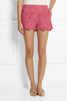Collette by Collette Dinnigan Edie cotton-lace shorts NET-A-PORTER.COM