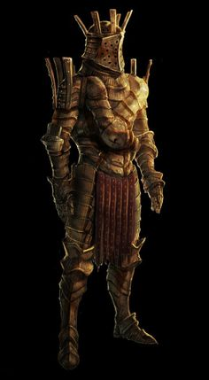 Rusted scale armor. Appears to have remnants of a tabard.