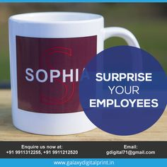 Surprise! Surprise! Surprise your employees with their name printed on #Mugs? Place your bulk order at gdigital71@gmail.com.   #MugPrinting #Customprinting Surprise Surprise, Mug Printing, Bulk Order, Names, Mugs, Printed, Tableware, Dinnerware, Tumbler