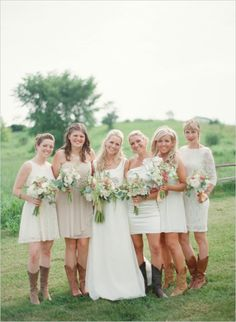 mismatched-white-bridesmaids-in-cowboy-boots.jpg (550×751)