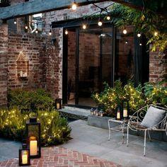 42 Terrace Garden Design With Beautiful Lighting Ideas