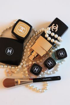 Chanel number 5, the only thing I wear. and of course, pearls.