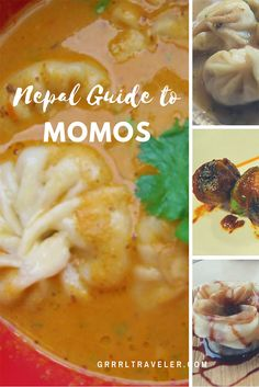 Momos are native to Tibet, Bhutan, Nepal, and India. We'll look at the best momos in Kathmandu and things you should know about Nepali momos Steamed Dumplings, Coconut Deserts, Veg Momos, Nepal Food, Momos Recipe, First Bite, Chutney, Street Food, Deserts