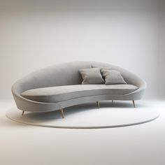 Curved Sofas for Your Happy Live: Adorable Gray Curved Sofa For Dream House…