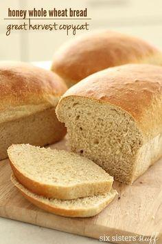 Great Harvest Honey Whole Wheat Bread Copycat – Six Sisters' Stuff