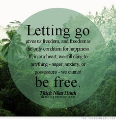You have to let #go in order to be #free Find out how to let go at placeboeffect.com