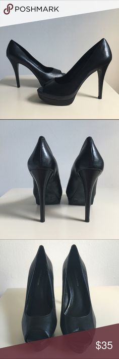 Black BCBG Peep Toe Pumps Never worn cute black peep toe pumps. Perfect for any occasion. BCBGeneration Shoes Heels