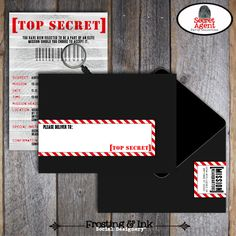 Spy Party Invite - Secret Agent Party Invitation