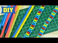 Drinking Straw Bracelet - YouTube