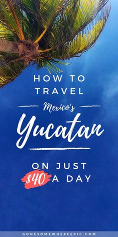 How much does it cost to travel the Yucatan? Learn how you can enjoy an epic 2 week vacation in Mexico's Yucatan on less than $40 per day. Top budget advice, travel hacks and cheap flights, best accommodation deals and how to save money on your trip. Go off the beaten path, avoid scams and tourist traps. #yucatan #yucatantravel #budgettravel #yucatanonabudget #yucatanitinerary #yucatanvacation #mexicovacation #mexicoonabudget #cheapflights #travel #mexicoitinerary