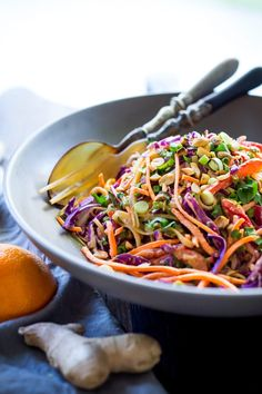 Thai Noodle Salad with Peanut Sauce- loaded up with healthy veggies and the BEST peanut sauce eeeeeeeeeever! Vegan & Gluten-Free | www.feastingathome.com Thai Cucumber Salad, Thai Noodle Salad, Thai Salads, Thai Noodles, Rice Noodles, Quick Healthy Snacks, Healthy Salads, Healthy Eating, Thai Peanut Sauce
