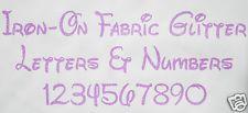 Iron-On Glitter Letters NEON PURPLE + FREE Hot-Fix Rhinestones