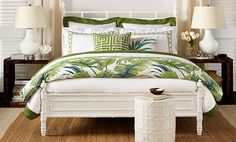 For my non existent beach home. Island Style Bedroom | Williams-Sonoma