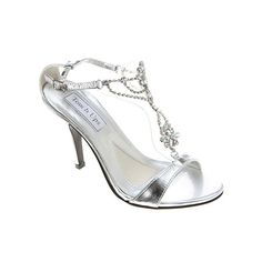 Touch Ups Princess Ankle Strap Sandals (94 CAD) ❤ liked on Polyvore featuring shoes, sandals, silver metallic, t-bar sandals, ankle tie sandals, metallic sandals, sparkly sandals and touch ups shoes