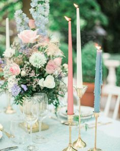 See some of our favorite, unique spring wedding ideas using spring wedding colors and spring wedding flowers. Spring Wedding Centerpieces, Candle Centerpieces, Wedding Reception Decorations, Floral Centerpieces, Candles, Reception Ideas, Wedding Tables, Centrepieces, Centerpiece Ideas