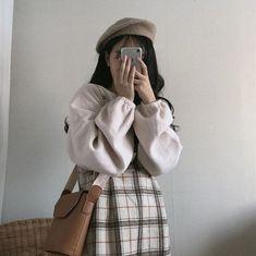 Korean Girl Fashion, Korean Fashion Trends, Ulzzang Fashion, Korean Street Fashion, Asian Fashion, Look Fashion, Trendy Fashion, Autumn Fashion, Fashion Outfits