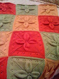 Ravelry: Lucky Afghan 12 block pattern by Margaret MacInnis Leaf Knitting Pattern, Baby Knitting Patterns, Knitted Afghans, Knitted Baby Blankets, Blanket Crochet, Simply Knitting, Free Knitting, Knitting Blocking, Afghan Patterns