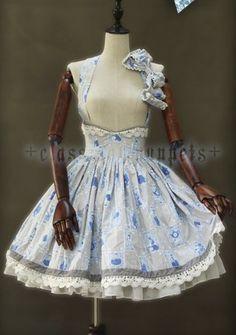 Alice in Wonderland Lolita Skirt High Waist $71.99
