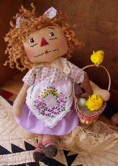 ONE OF A KIND EASTER RAGGEDY ANN CHECK MY SHOP