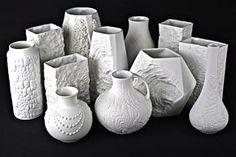 AK Kaiser Vintage Bisquit Porzellan Vase