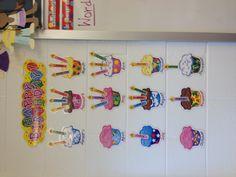 Inspired by Class Room, Birthday Board, Bulletin Boards, Classroom Ideas, Preschool, Birthdays, Display, Teaching, Activities
