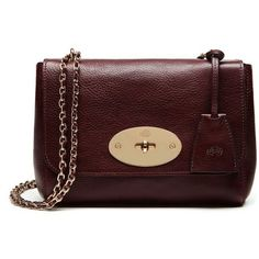 Mulberry Lily (4.120 RON) ❤ liked on Polyvore featuring bags, handbags, red leather handbag, evening handbags, genuine leather handbags, chain handle handbags and leather purse