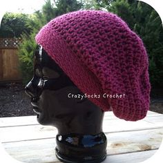 Super Slouch Hat  Takes only 150 yards for ladies hat! Also has child size instructions.