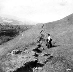 picture of the fault line after 1906 S.F. earthquake, wow.