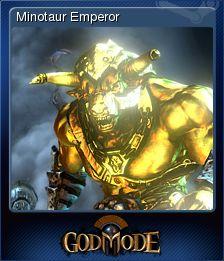 Cromo de Steam «Minotaur Emperor» de God Mode