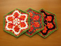 Starflower Hexagon (crochet granny) - Pattern at Ravelry <3