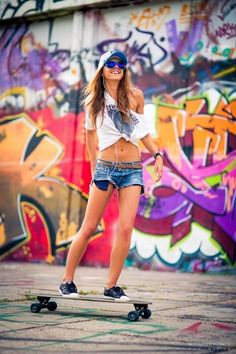 Get on #Board with These #Skater Girl Looks • and GO #SK8! :D