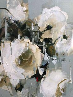 Detail roses nicole pletts nicoleplettsfineart com Oil Painting Flowers, Abstract Flowers, Watercolor Paintings, Impressionist Art, Art For Art Sake, Botanical Art, Flower Art, Illustration, Art Drawings