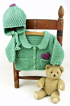 Baby Jacket & Hat: Hat (archived) free pattern by Treva McCain