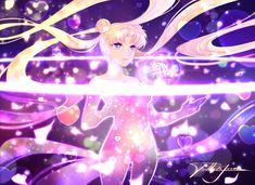 Moon Cosmic Power by Paddy-F on DeviantArt Sailor Moon Transformation, Princesa Serenity, Sailor Moon Crystal, Magical Girl, Tinkerbell, Cosmic, Disney Characters, Fictional Characters, Kawaii