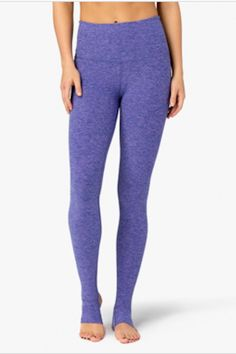 High waisted stirrup legging in Faded Denim-Lavender Mist. Uber soft to the touch. These leggings hold you in and smooth you out. Perfect for yoga, pilates, or style it with flats for a studio-to-street look. Fits true to size. Hi-Rise Stirrup Legging by Idlehour. Clothing - Activewear Indiana