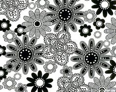 Black, White & Currant - Pen & Ink Posies - White Fabric Online, Letters And Numbers, Printable Coloring, Winter Wonderland, Lust, Digital Prints, Quilting, Ink, Black And White