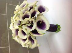 Picasso cala lily wedding bouquet