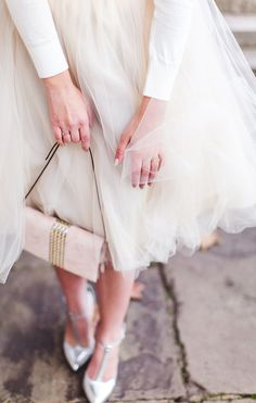 tulle skirt + cashmere sweater