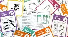 Scoot games for fun math review #teachers #classroomgames #mathgames