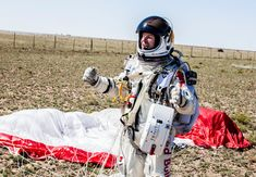 stratosphere...Mission Accomplished - Red Bull Stratos - World Record Freefall, via YouTube.