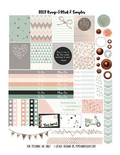 Bronze & Mint 2 Sampler- Free Planner Printable