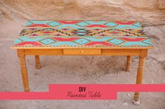 DIY: Painted Table. My coffee table will look like this in the new place! So excited for this one