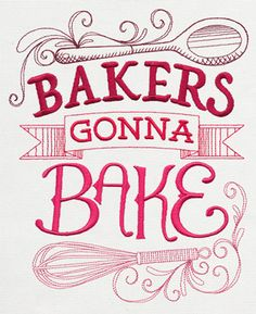Spice It Up - Bakers Gonna Bake | Urban Threads: Unique and Awesome Embroidery Designs