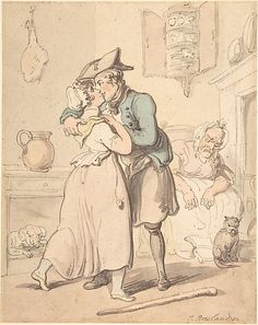 The Sailor's Return from Active Service  Thomas Rowlandson  (British, London 1757–1827 London)  Date: 18th–19th century