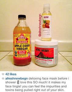 Aztec healing Clay x ACV x almond oil