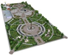 Public park and urban spaces - Architektur Landscape Architecture Drawing, Landscape And Urbanism, Landscape Design Plans, Park Landscape, Urban Landscape, Plaza Design, Public Space Design, Public Spaces, Urban Park