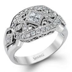 9928d43a1 Simon G. Vintage Explorer Colle Caration Filigree Diamond Ring