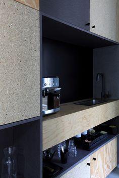 (Tout) petit coin cuisine - Batipin-médium gris / Archi-Design : ATELIER PREMIER ETAGE